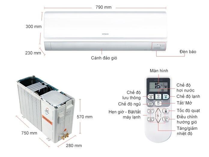 Máy lạnh Hitachi 1.5 HP RAS-F13CF