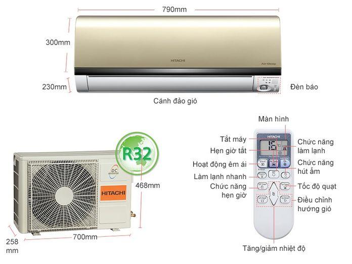 Máy lạnh Hitachi Inverter 1 HP RAS-DX10CGV (G)