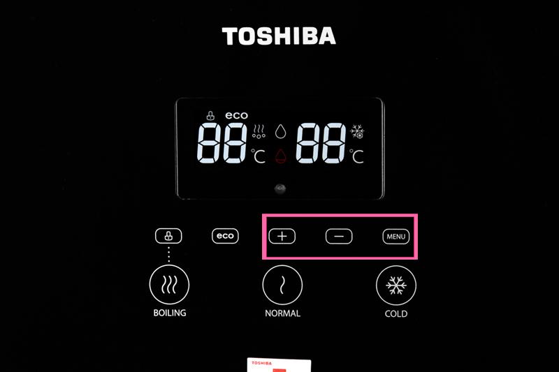 Chỉnh nhiệt độ nước - Máy nước nóng lạnh Toshiba RWF-W1830BV(K)