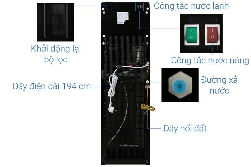 Công tắc nóng/lạnh riêng biệt - Máy nước nóng lạnh Toshiba RWF-W1830BV(K)