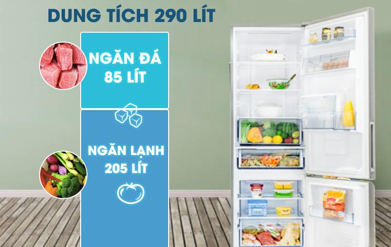 Tủ lạnh Panasonic Inverter 290 lít NR-BV320WSVN-Dung tích 290 lít, phù hợp với gia đình 2 - 3 người