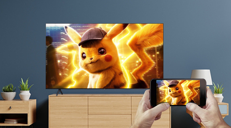 Smart Tivi Samsung 4K 55 inch UA55TU7000 - Chiếu màn hình