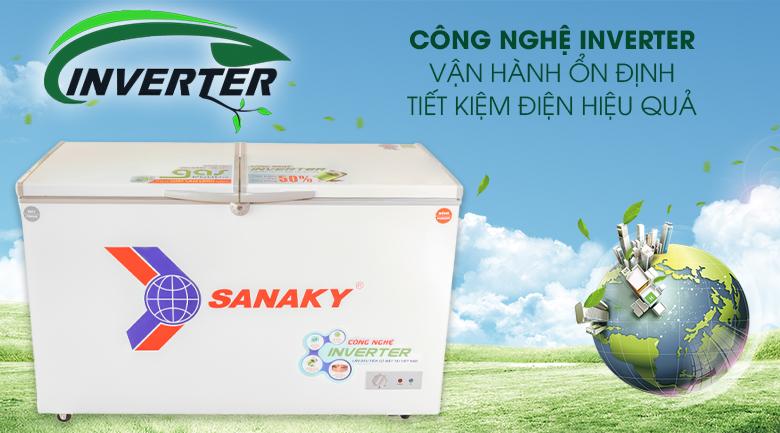 Công nghệ Inverter tiết kiệm điện, vận hành êm ái - Tủ đông Sanaky 280 lít VH-4099W3