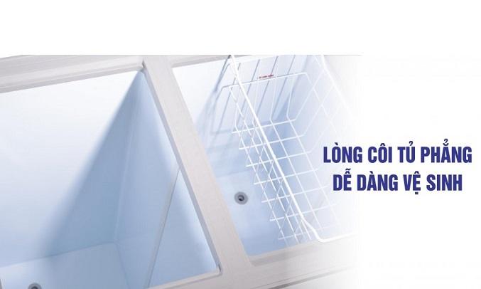 Tủ đông Sanaky 100 lít VH-1599HYKD Dễ dàng vệ sinh