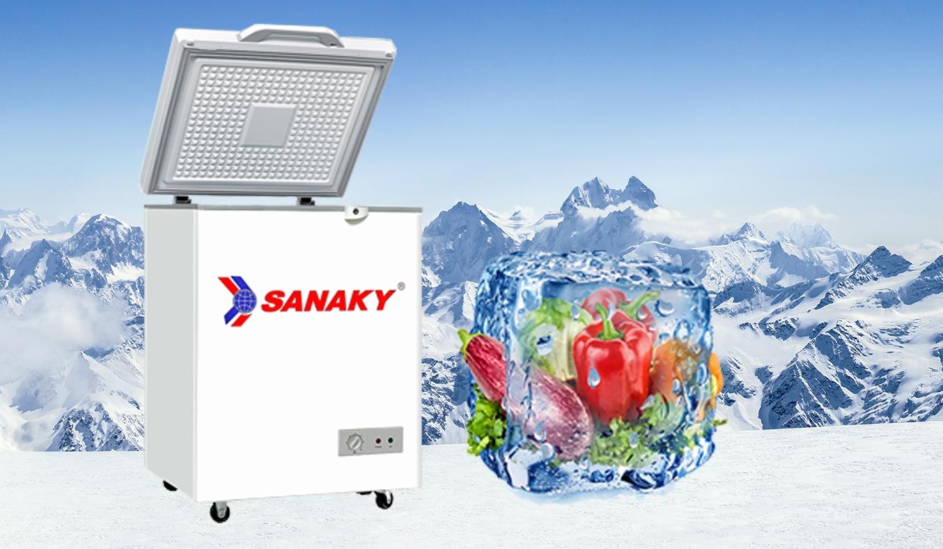 Tủ đông Sanaky 100 lít VH-1599HYKD thiết kế sang trọng