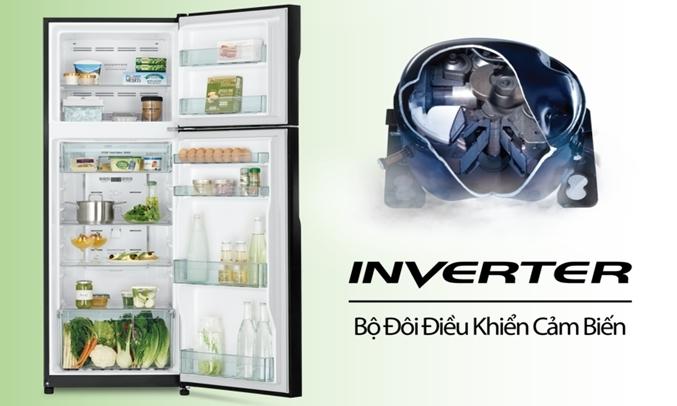 Tủ lạnh Hitachi Inverter 260 lít R-H310PGV7 (BBK) được thiết kế đơn giản