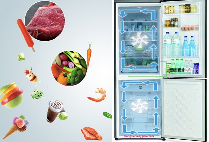 Hệ thống làm lạnh kép duy trì tốt nhiệt độ trong tủ - Tủ lạnh Hitachi Inverter 275 lít R-B330PGV8 BBK