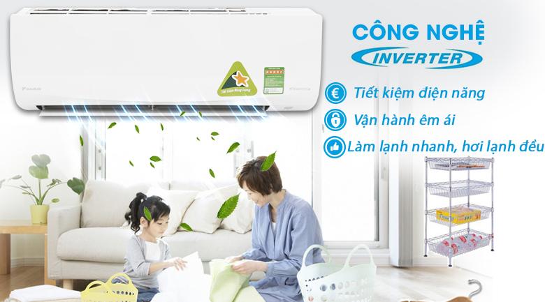 Công nghệ Inverter - Máy lạnh Daikin Inverter 1.5 HP FTKQ35SAVMV