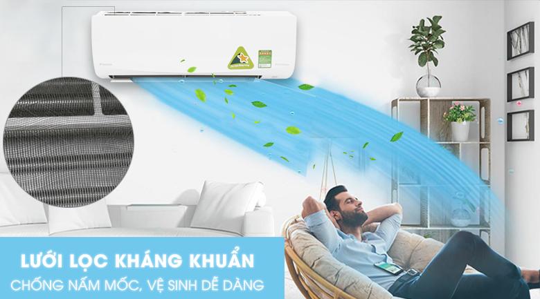 Tấm lọc kháng khuẩn - Máy lạnh Daikin Inverter 1.5 HP FTKQ35SAVMV